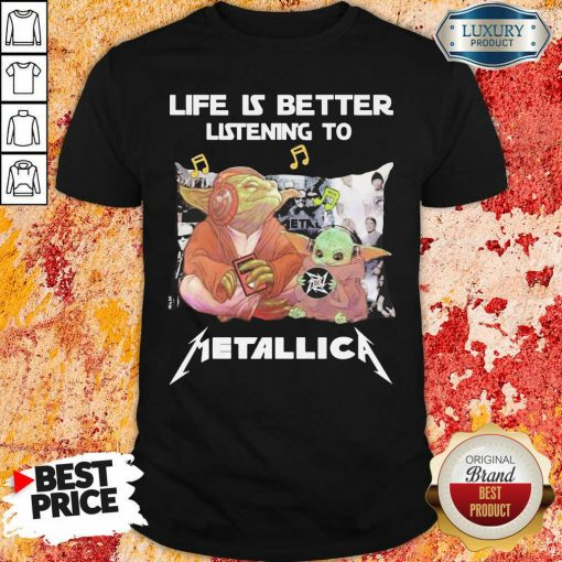 Yoda Life Is Better Listening To Metallica Shirt-Design By Soyatees.com