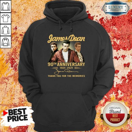 James Dean 90Th Anniversary 1931 2021 Thank You For The Memories Signature Hoodie-Design By Soyatees.com