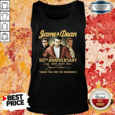 James Dean 90Th Anniversary 1931 2021 Thank You For The Memories Signature Tank Top-Design By Soyatees.com