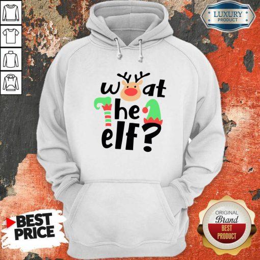 Reindeer What The Elf Christmas Hoodie-Design By Soyatees.com