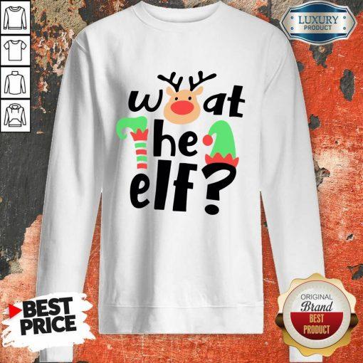 Reindeer What The Elf Christmas Sweatshirt-Design By Soyatees.com
