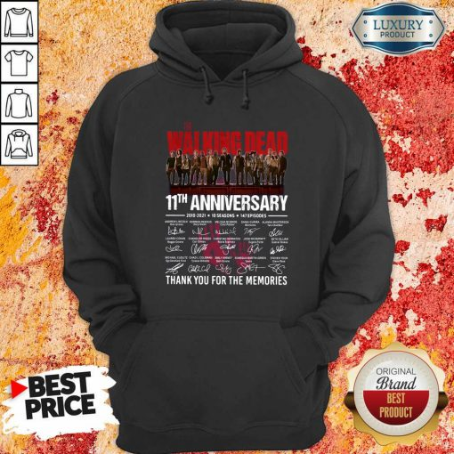 The Walking Dead 11Th Anniversary Thank You For The Memories Signatures Hoodie-Design By Soyatees.com