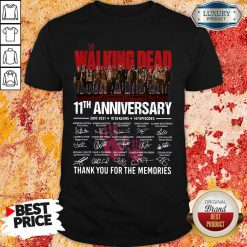 The Walking Dead 11Th Anniversary Thank You For The Memories Signatures Shirt-Design By Soyatees.com