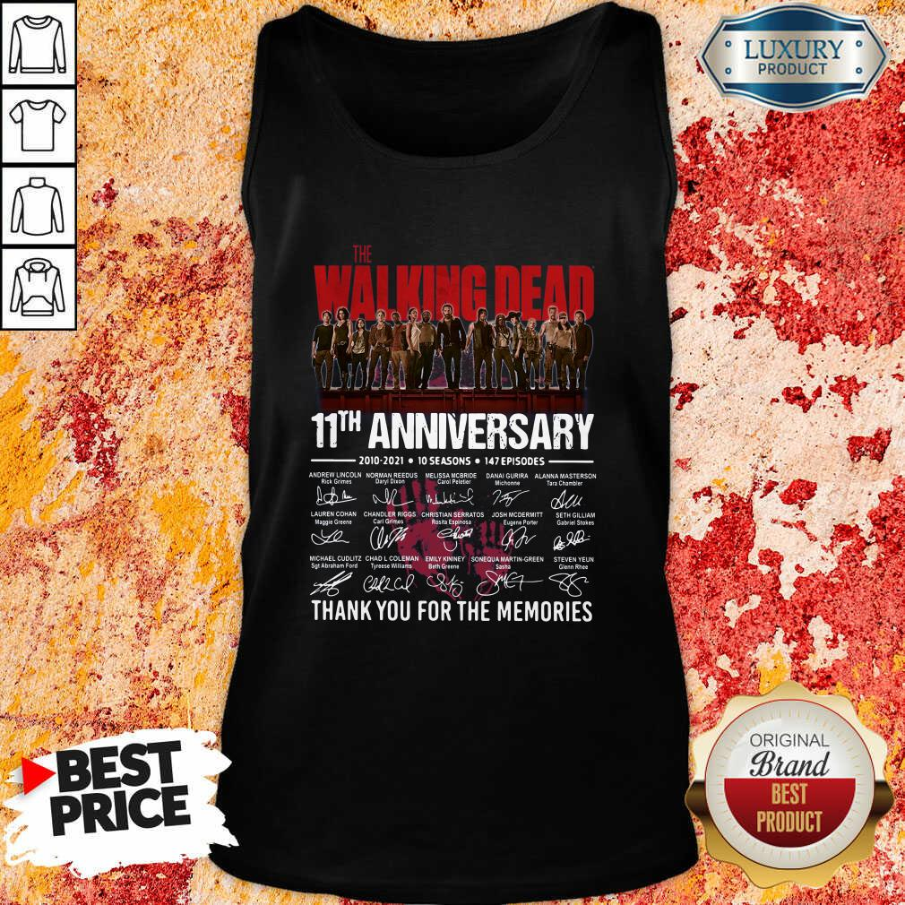 The Walking Dead 11Th Anniversary Thank You For The Memories Signatures Tank Top-Design By Soyatees.com