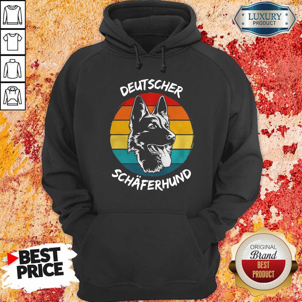 Vintage Deutscher Schäferhund Dog Funny Hoodie-Design By Soyatees.com