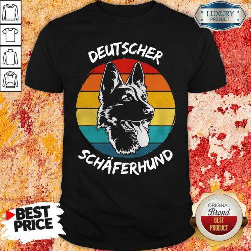 Vintage Deutscher Schäferhund Dog Funny Shirt-Design By Soyatees.com