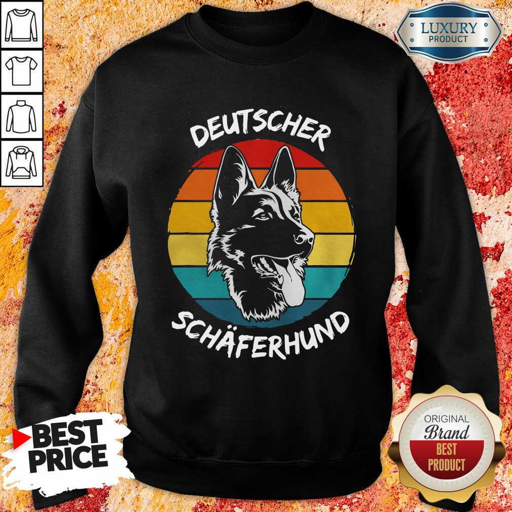 Vintage Deutscher Schäferhund Dog Funny Sweatshirt-Design By Soyatees.com
