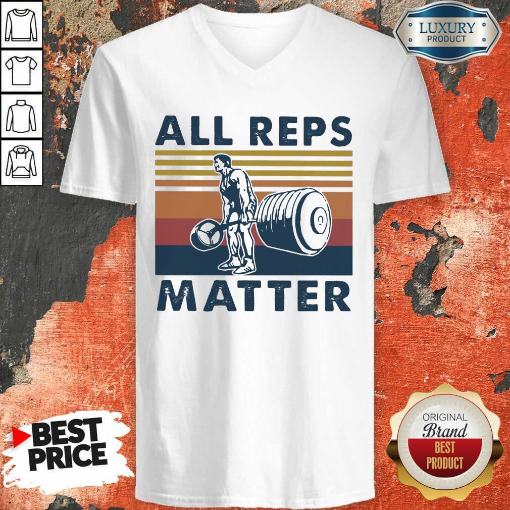 All Reps Matter Vintage V-neck-Design By Soyatees.com