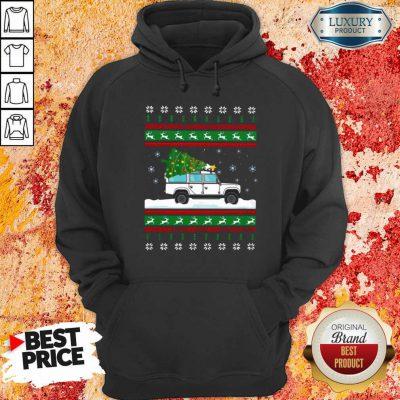 Defender Christmas Tree Ugly Hoodie-Design By Soyatees.com