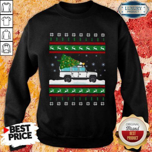 Defender Christmas Tree Ugly Sweatshirt-Design By Soyatees.com
