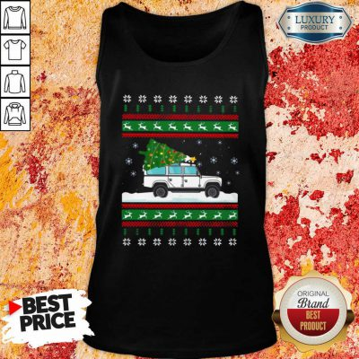 Defender Christmas Tree Ugly Tank Top-Design By Soyatees.com