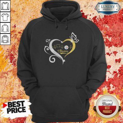 Steelers Butterflies Heart Beat Hoodie-Design By Soyatees.com