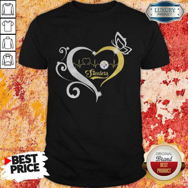 Steelers Butterflies Heart Beat Shirt-Design By Soyatees.com