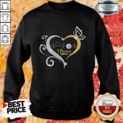 Steelers Butterflies Heart Beat Sweatshirt-Design By Soyatees.com