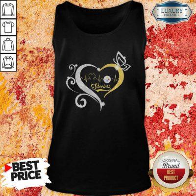 Steelers Butterflies Heart Beat Tank Top-Design By Soyatees.com