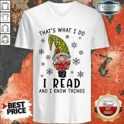 That'S What I Do I Read And I Know Things V-neck-Design By Soyatees.com