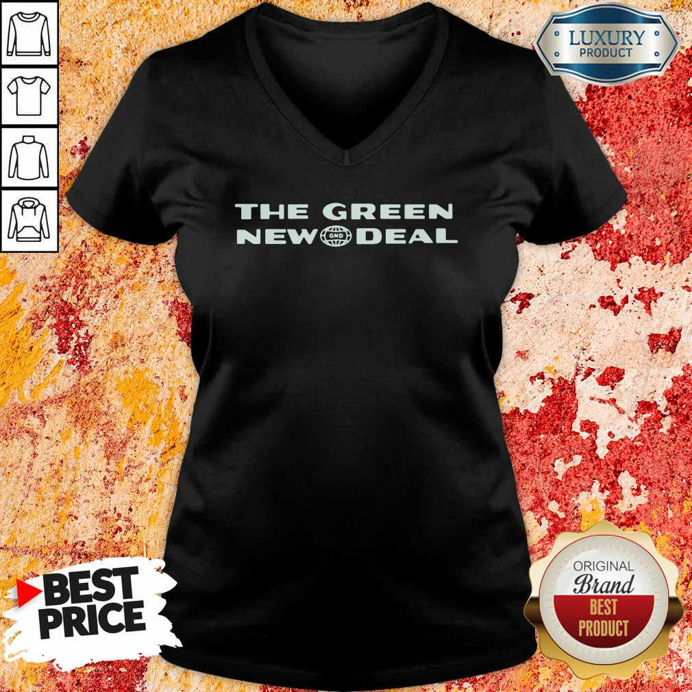 The Green New Deal V-neck-Design By Soyatees.com