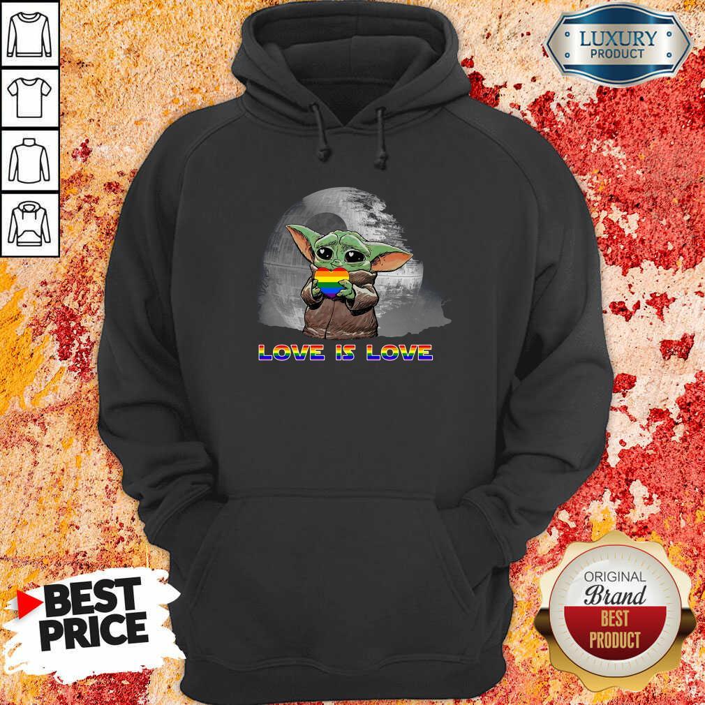 Baby Yoda Hug Autism Hear Love Is Love Hoodie-Design By Soyatees.com
