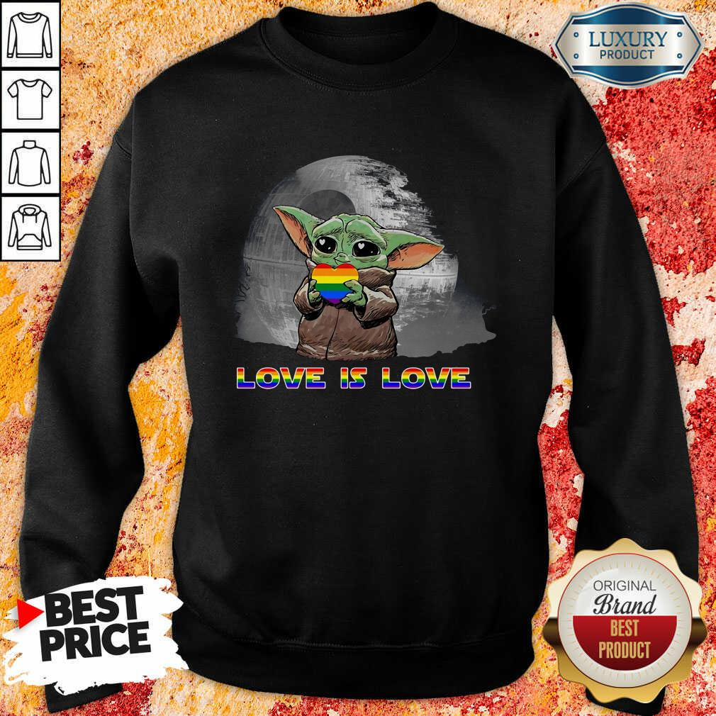 Baby Yoda Hug Autism Hear Love Is Love Sweatshirt-Design By Soyatees.com