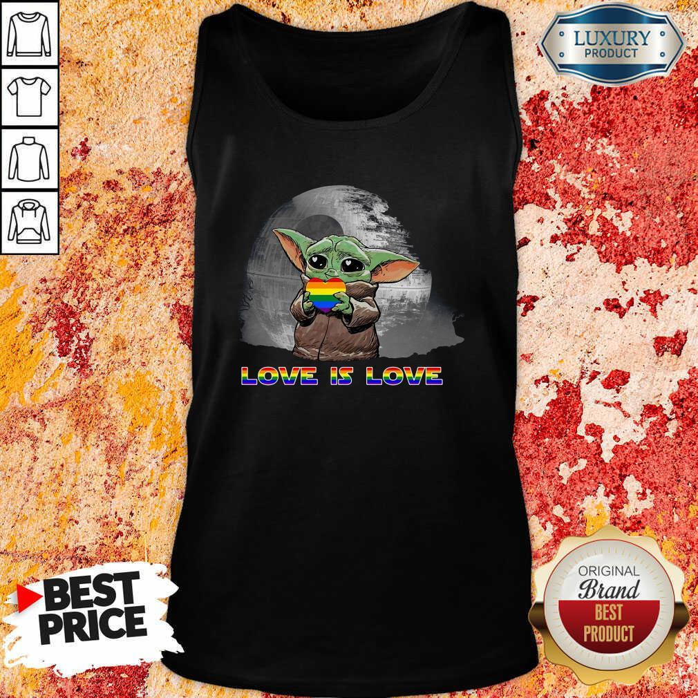 Baby Yoda Hug Autism Hear Love Is Love Tank Top-Design By Soyatees.com