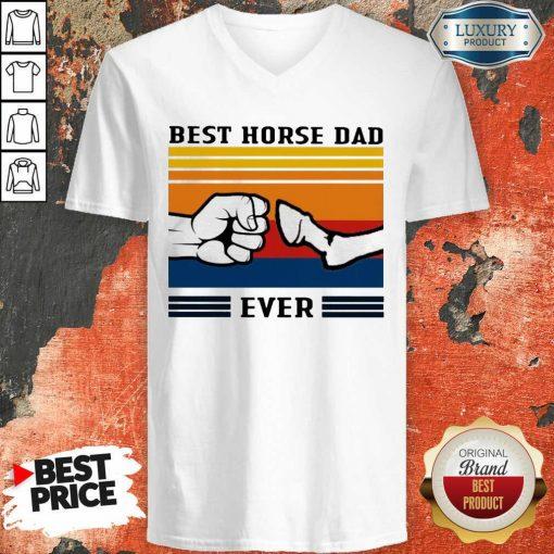 Best Horse Dad Ever Vintage V-neck-Design By Soyatees.com