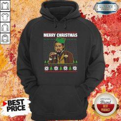 Leo Laughing Dank Meme Ugly Merry Christmas Hoodie-Design By Soyatees.com