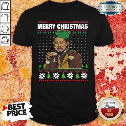 Leo Laughing Dank Meme Ugly Merry Christmas Shirt-Design By Soyatees.com