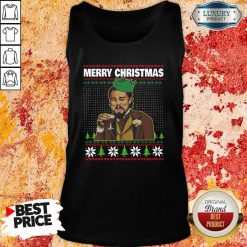 Leo Laughing Dank Meme Ugly Merry Christmas Tank Top-Design By Soyatees.com
