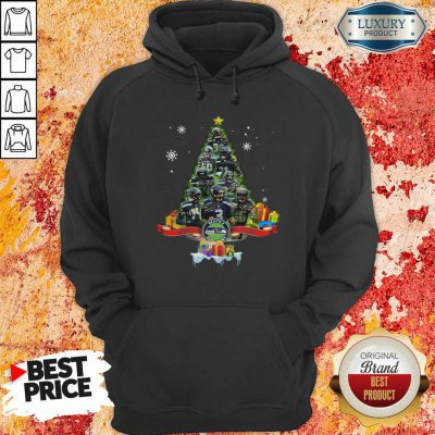 Seattle Seahawks Player Signatures Christmas Tree Hoodie-Design By Soyatees.com