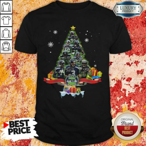 Seattle Seahawks Player Signatures Christmas Tree Shirt-Design By Soyatees.com