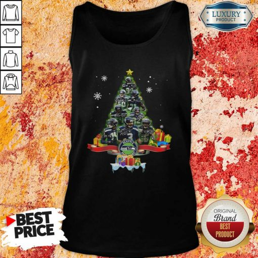 Seattle Seahawks Player Signatures Christmas Tree Tank Top-Design By Soyatees.com