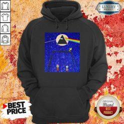 Snoopy Woodstock And Friend Watching Moon Pink Floyd Hoodie-Design By Soyatees.com