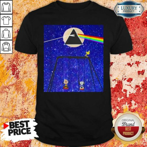 Snoopy Woodstock And Friend Watching Moon Pink Floyd Shirt-Design By Soyatees.comPerfect Snoopy Woodstock And Friend Watching Moon Pink Floyd Shirt