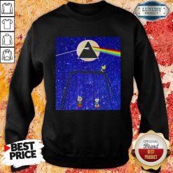 Snoopy Woodstock And Friend Watching Moon Pink Floyd Sweatshirt-Design By Soyatees.com