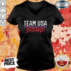 Team Usa Breaking Graffiti V-neck-Design By Soyatees.com