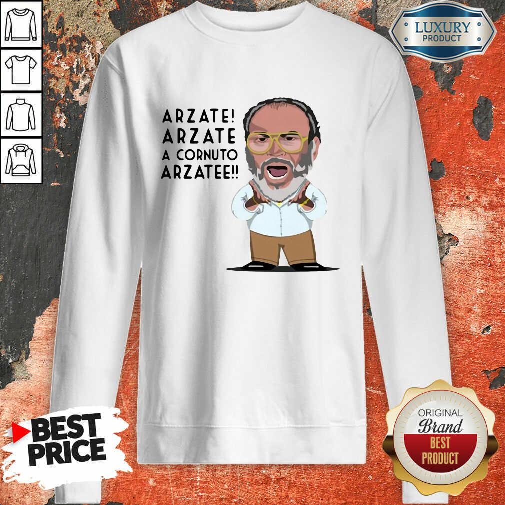 Arzate Arzate A Cornuto Arzatee Sweatshirt-Design By Soyatees.com