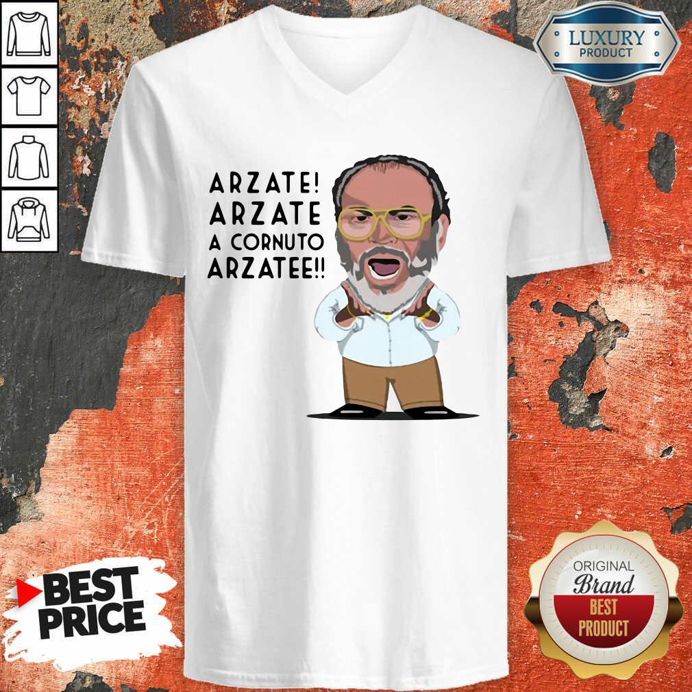 Arzate Arzate A Cornuto Arzatee V-neck-Design By Soyatees.com