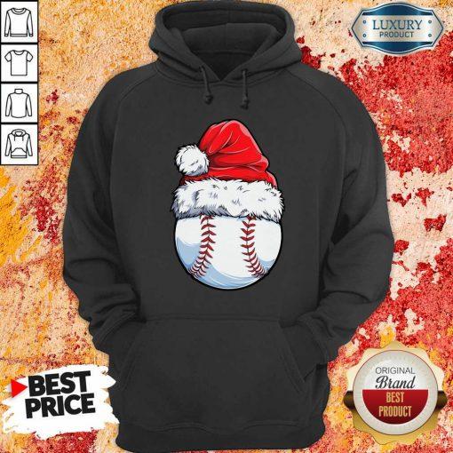 Baseball Santa Hat Christmas Hoodie-Design By Soyatees.com