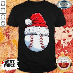 Baseball Santa Hat Christmas Shirt-Design By Soyatees.com