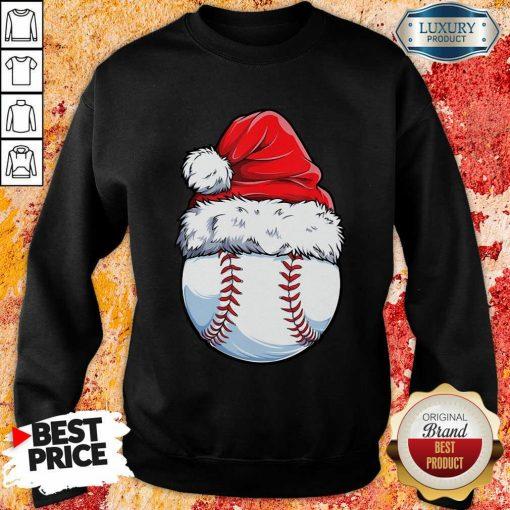Baseball Santa Hat Christmas Sweatshirt-Design By Soyatees.com
