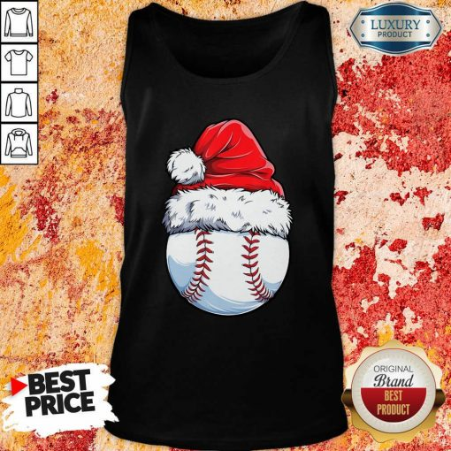 Baseball Santa Hat Christmas Tank Top-Design By Soyatees.com