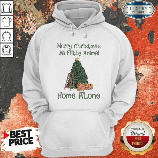 Merry Christmas Ya Filthy Animal Home Alone Christmas Tree Hoodie-Design By Soyatees.com