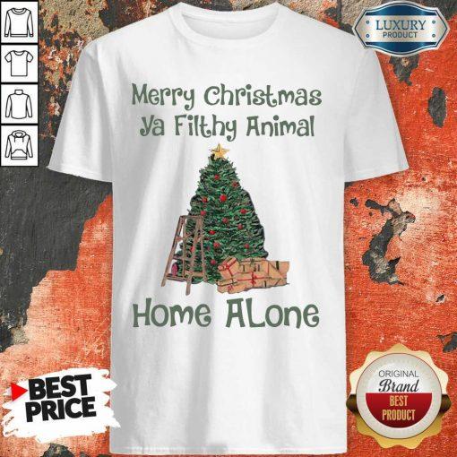 Merry Christmas Ya Filthy Animal Home Alone Christmas Tree Shirt-Design By Soyatees.com