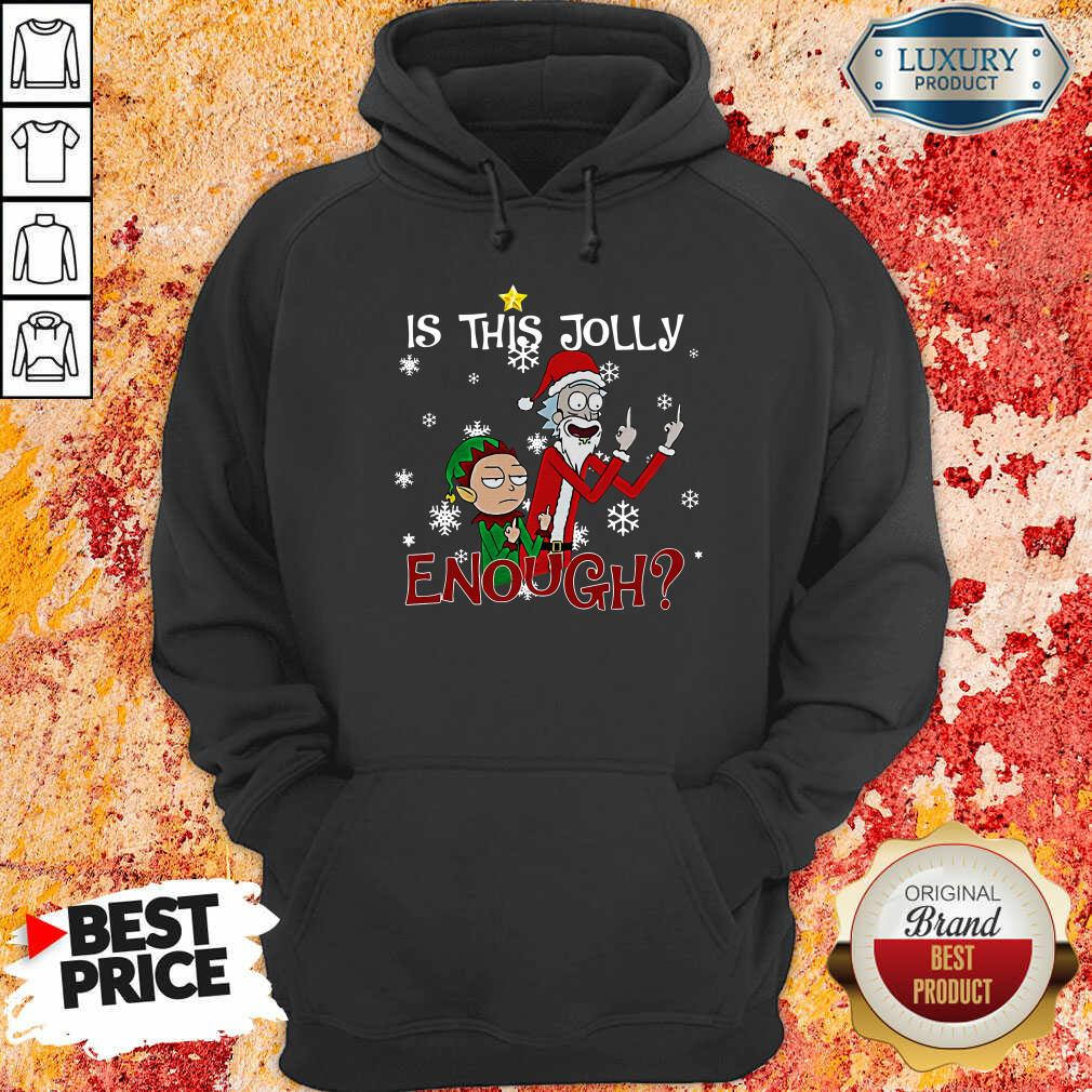 Rick And Morty Is This Jolly Enough Christmas Hoodie-Design By Soyatees.com