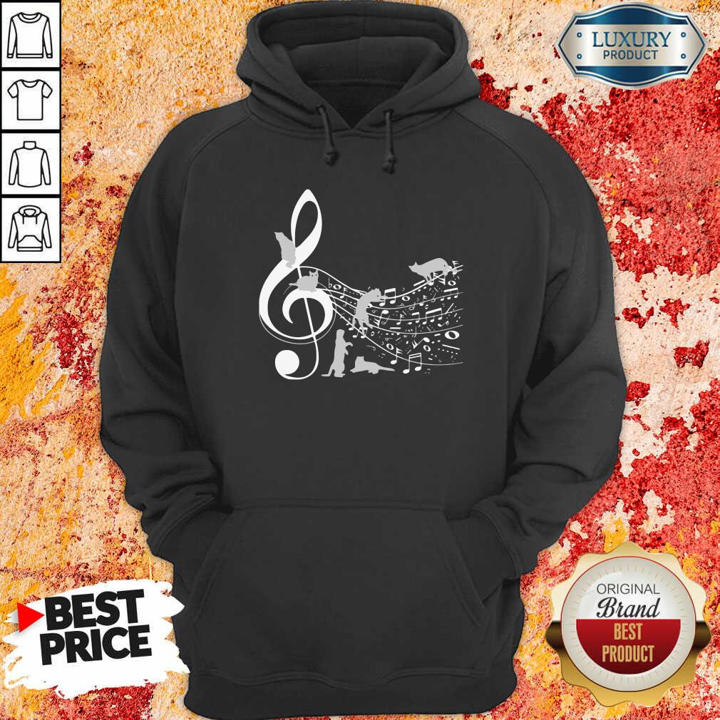 Cat And Note Music Hoodie-Design By Soyatees.com