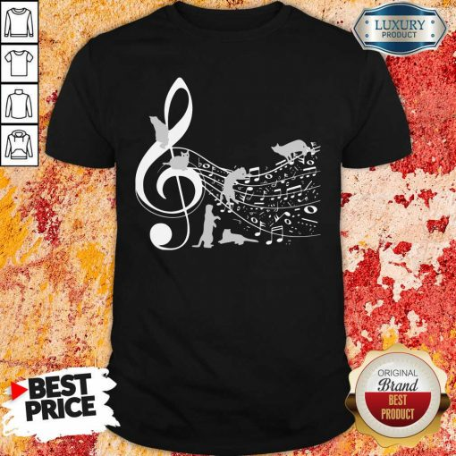 Cat And Note Music Shirt-Design By Soyatees.com