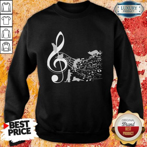 Cat And Note Music Sweatshirt-Design By Soyatees.com