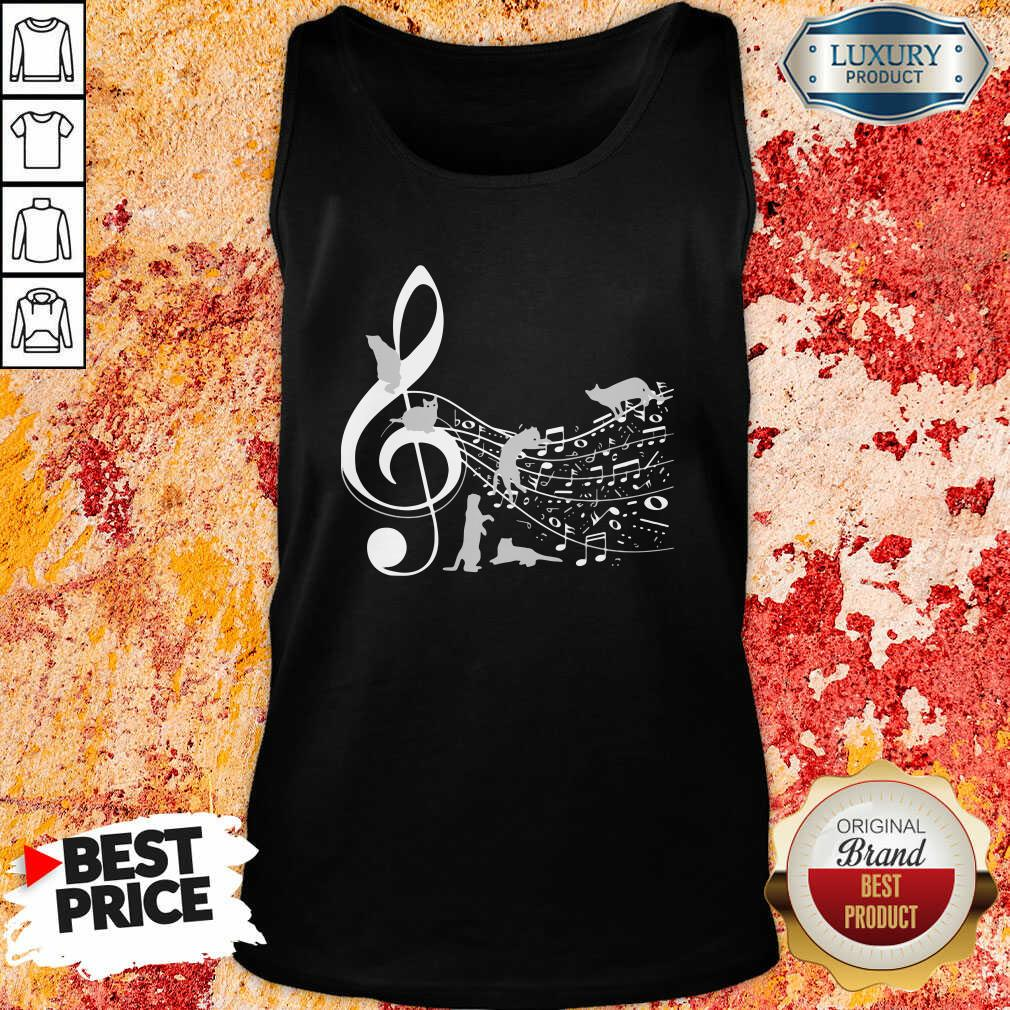 Cat And Note Music Tank Top-Design By Soyatees.com