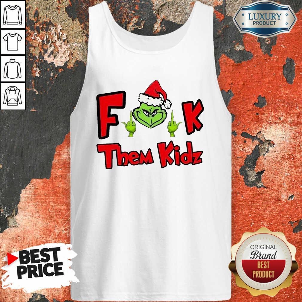 Grinch Santa Fuck Them Kidz Tank Top-Design By Soyatees.com