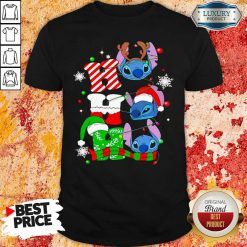 Ho Ho Ho Stitch Reindeer Elf Santa Xmas Shirt-Design By Soyatees.com